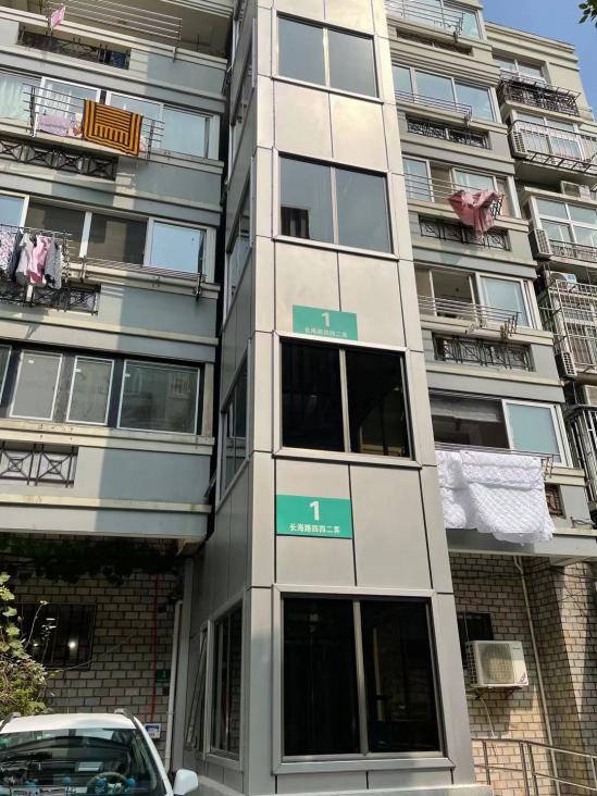 献礼祖国   上海市杨浦区长海路442弄1号楼加梯竣工-3